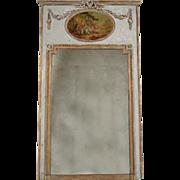 Late 19th Century French Louis XVI Trumeau Mirror
