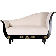 Antique French Empire Chaise Lounge/Settee