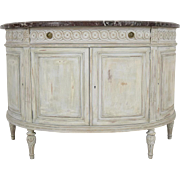 French 1970s Louis XVI-Style Demilune Sideboard