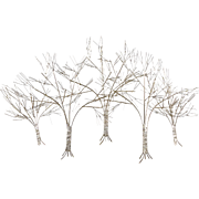 C. Jere Chrome Tree Wall Sculpture