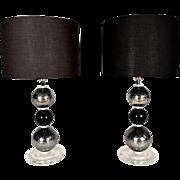 Pair of Italian Murano Lamps