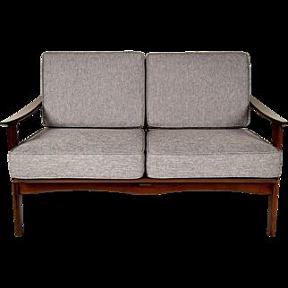 Lovely Mid-Century Danish Love Seat