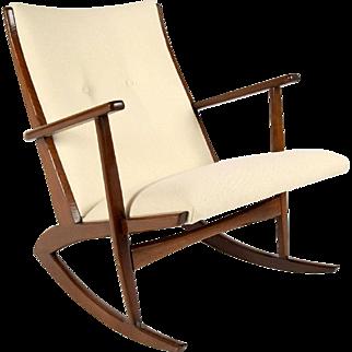 Boomerang Rocking Chair by Soren Georg Jensen for Kubus 1960s