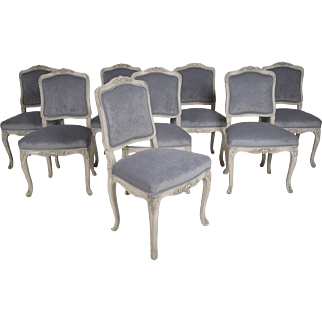 Set of 8 French Louis XV Dining Chairs