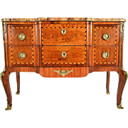 French, 19th Century Louis XVI Inlaid Chest of Drawers