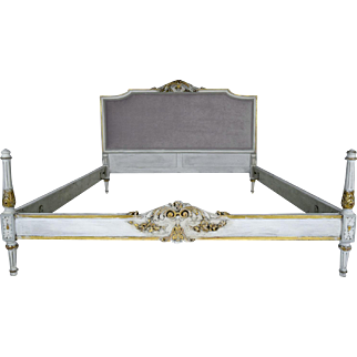 Antique Louis XVI-style Queen Size Bed Frame