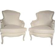 Pair of French Louis XV-Style Bergeres