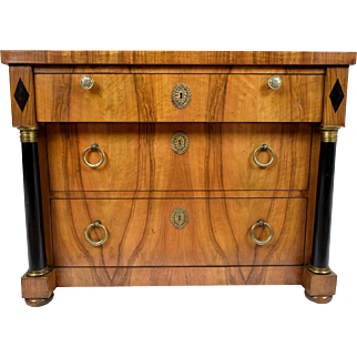 Vintage Empire-style Chest of Drawers by Baker
