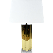 Modern Brass and Lucite Table Lamp