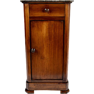 19th Century French Louis Philippe-style Walnut Night Stand
