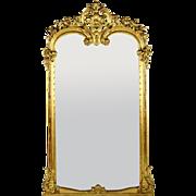 19th Century French Louis XVI-style Giltwood Frame Mirror