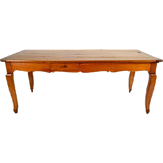 French Early 19th Century Farm Dining Table w/Side Extension