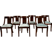 Set of Six Antique French Empire-style Mahogany Dining Chairs