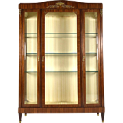 French Antique Empire Vitrine/Display Cabinet