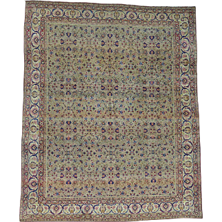 Hand Knotted Antique Persian Kerman Exc Cond Oriental Rug Sh25862