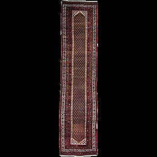 Antique Persian Northwest Boteh Design Runner Handmade Rug Sh26171