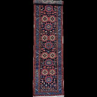 Antique Persian Kurdish Wide Runner Handmade Full Pile Rug Sh26176