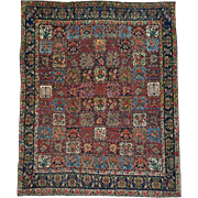 Garden Design Antique Persian Bakhtiari Hand Knotted Rug Sh26180