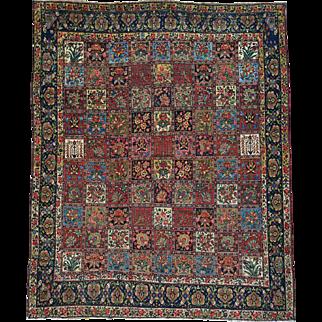 Garden Design Antique Persian Bakhtiari Hand Knotted Rug Sh26180