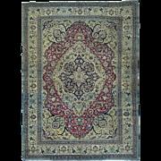 Antique Persian Khorasan Even Wear Good Cond Handmade Rug