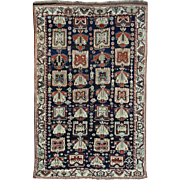 Hand-Knotted Antique Persian Kurdish Full Pile Exc Cond Rug
