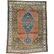 Handmade Original Antique Persian Bakshaish Mint Cond Rug