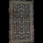 Hand-Knotted Antique Persian Bidjar Even Wear Oversize Rug