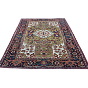 Hand-Knotted Antique Persian Heriz Mint Cond Oriental Rug
