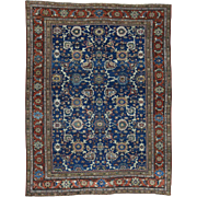 Hand-Knotted Antique Persian Mahal Even Wear Exc Cond Rug