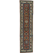 Antique Caucasian Kazak Mint Condition Oriental Runner Rug