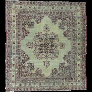 Antique Lavar Kerman with Natural Cranberry Dyes Oriental Rug