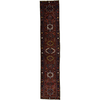 Gallery Size Antique Persian Karajeh Excellent Condition Rug
