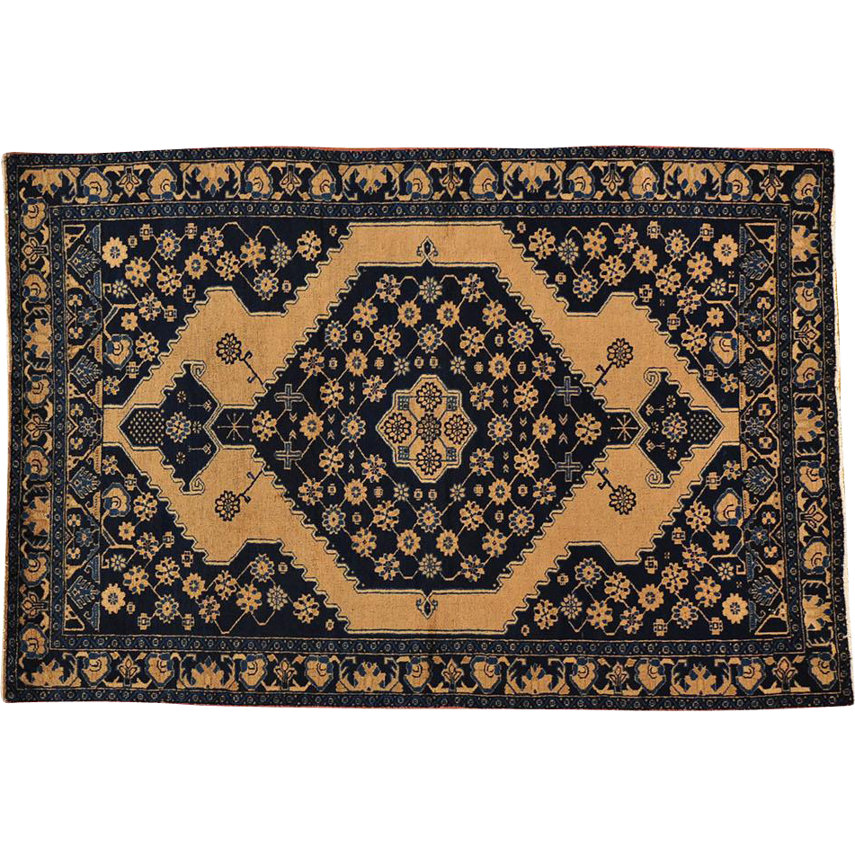 100% Wool Antique Persian Malayer Hand Knotted 4'x6' Good