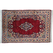 Antique Persian Sarouk Full Pile Good Cond Oriental Rug Handmade Sh20233