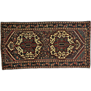 Old Persian Bakhtiari Hand Knotted Oriental Rug Some Wear Sh21510
