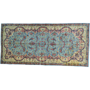 Antique Persian Kerman Mint Cond Gallery Size Handmade Rug Sh25971
