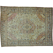 Antique Persian Tabriz Exc Cond Hand Knotted Oriental Rug Sh25972