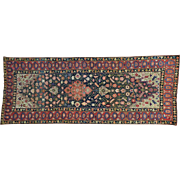Gallery Size Antique Persian Kurdish Bidjar Hand Knotted Rug Sh26167