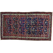 Antique Persian Kurdish Bidjar Exc Cond Hand Knotted Rug Sh26177