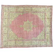 Antique Turkish Sivas Even Wear Pink Oversize Oriental Rug Sh26986