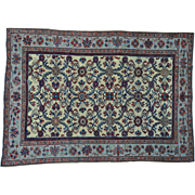 Antique Persian Mahal With Good Restoration Oriental Rug Sh27186