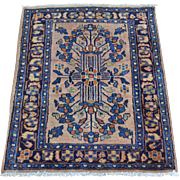 Full Pile Soft And Clean Antique Persian Sarouk Rug Sh28116