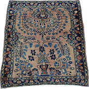 Antique Persian Sarouk Handmade Mint Cond Full Pile Square Rug Sh28122