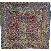 Antique Persian Kermanshah Good Cond Even Wear Square Rug Sh28411