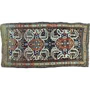 Antique Eagle Kazak Caucasian Design Wide Runner Full Pile Rug Sh28412