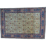 Antique Persian Kerman with Poetry and Animals Oversize Rug Sh28764