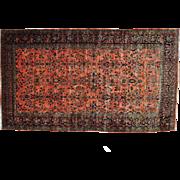 Antique Persian Maharajan Sarouk Full Pile Oversize Rug Sh29387