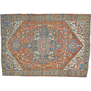 Antique Persian Serapi Exc Cond Hand Knotted Oversize Rug Sh29388