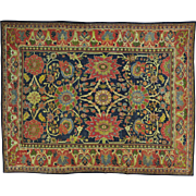 Antique Persian Mahal With Large Elements Even Wear Rug Sh29390