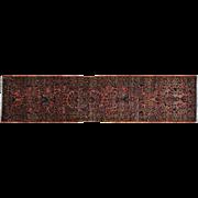 Antique Persian Sarouk Runner Soft Full Pile Exc Cond Rug Sh29391